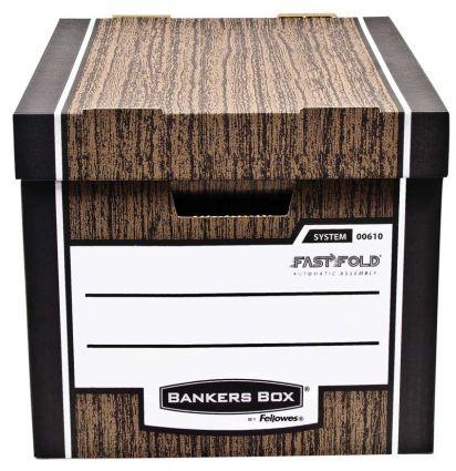 Pudło archiwizacyjne Woodgrain - brązowe