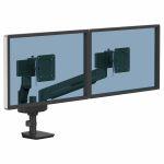 Ramię kompaktowe na 2 monitory TALLO™ (czarne)