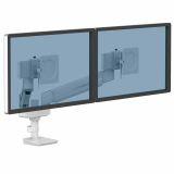 Ramię kompaktowe na 2 monitory TALLO™ (białe)