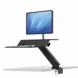 Stanowisko do pracy Sit-Stand Lotus™ RT  - czarne na 1 monitor
