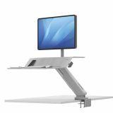 Stanowisko do pracy Sit-Stand Lotus™ RT  - białe na 1 monitor