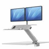 Stanowisko do pracy Sit-Stand Lotus™ RT - białe na 2 monitory