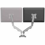 Zestaw z 1 ramieniem do rozbudowy na 2 monitory EPPA™ srebrny